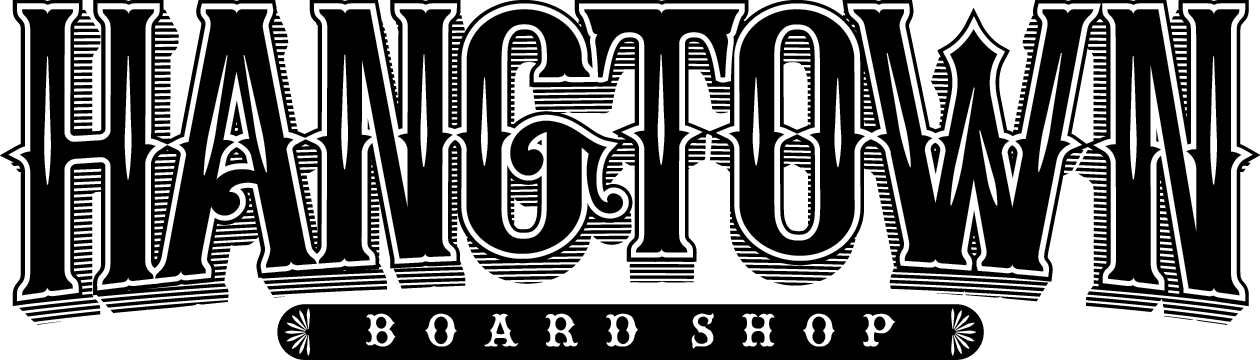 Hangtown board shop logo
